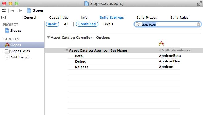 App Icon set name samples