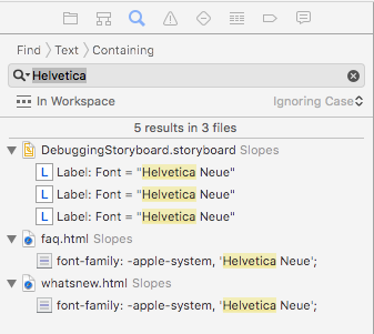 Find helvetica in your project
