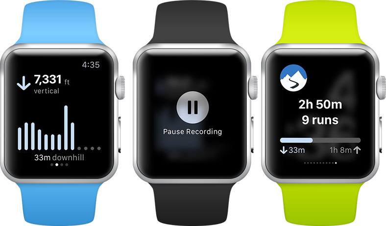 Slopes on Apple Watch